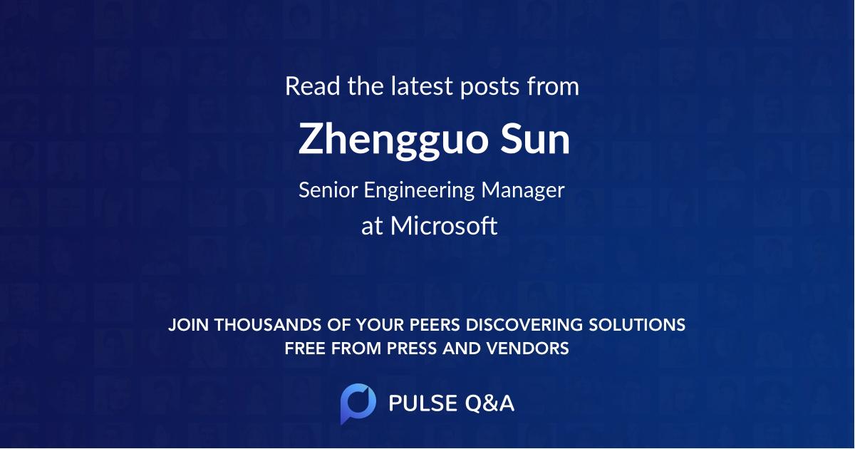 Zhengguo Sun