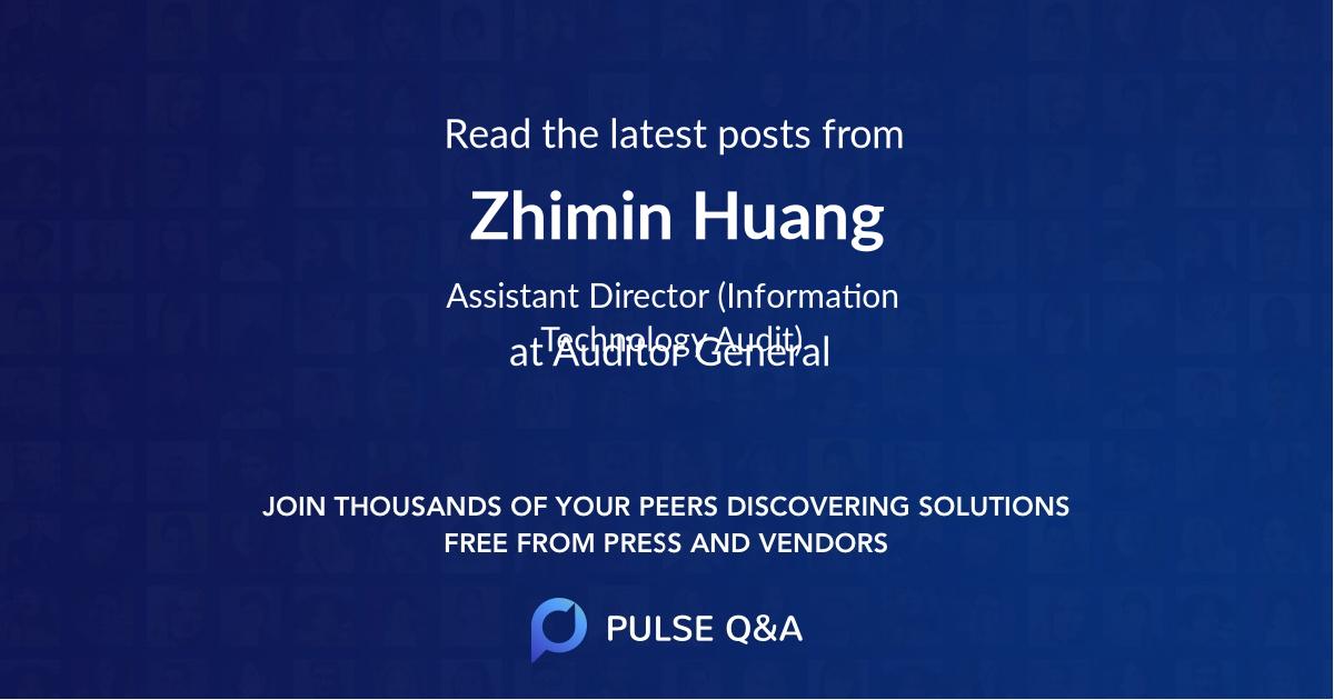 Zhimin Huang