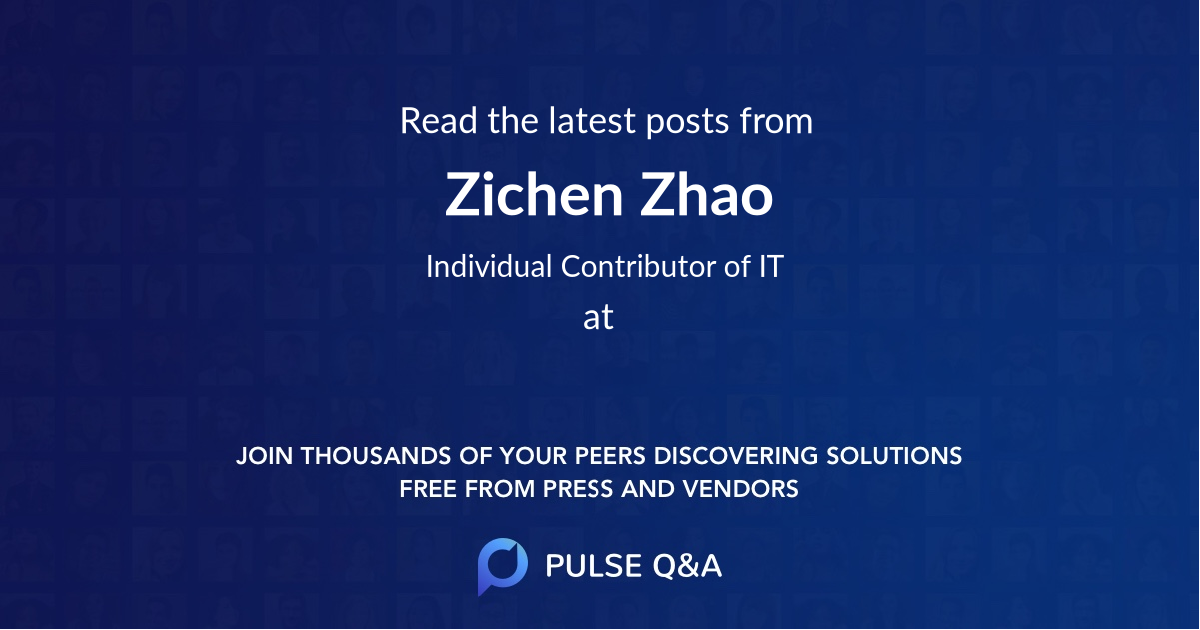 Zichen Zhao