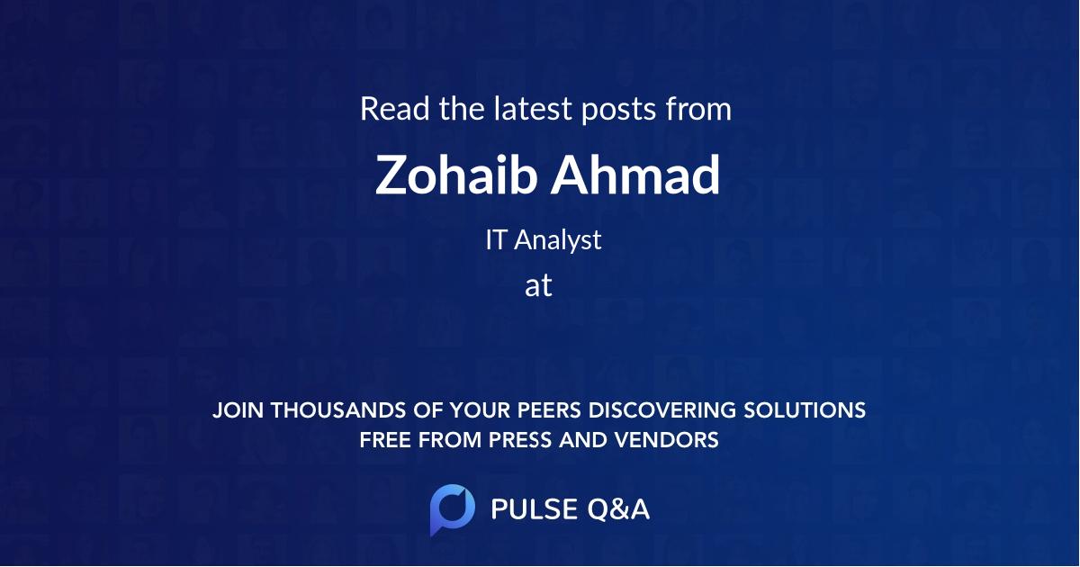 Zohaib Ahmad