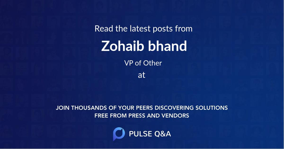 Zohaib bhand