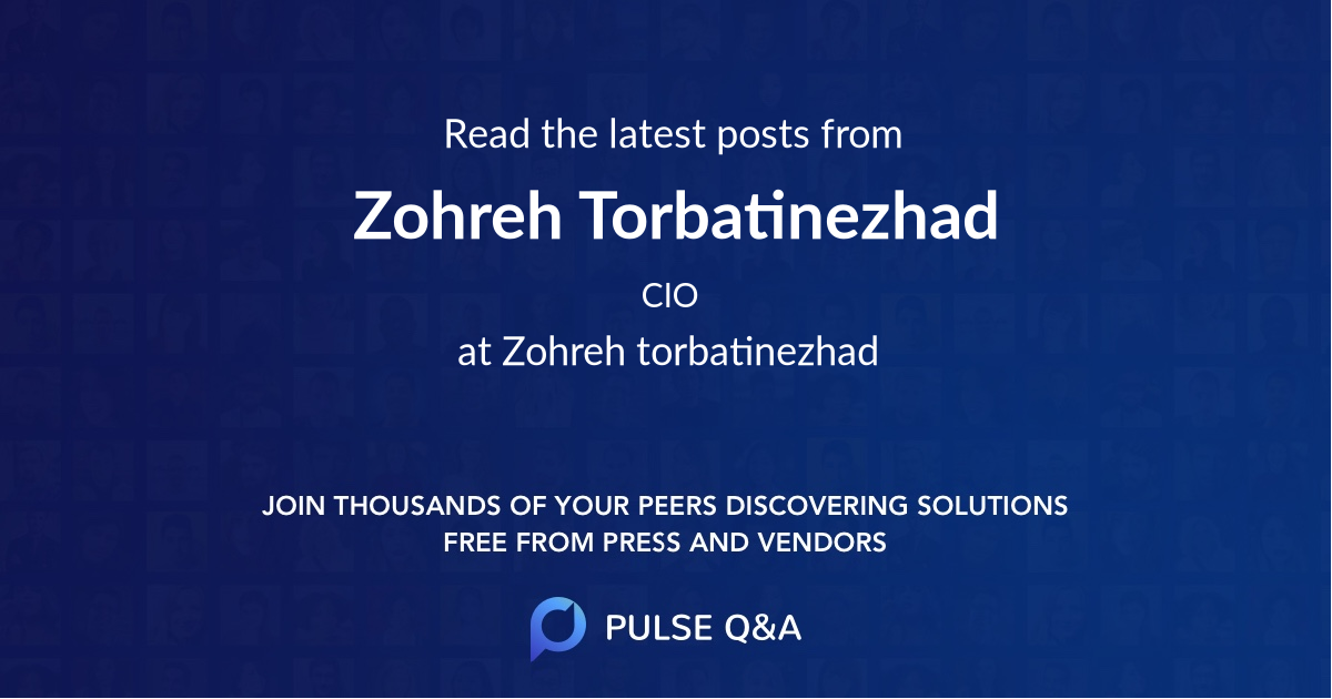 Zohreh Torbatinezhad