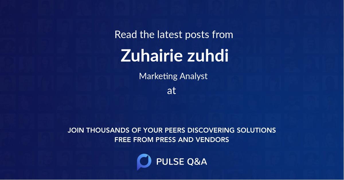 Zuhairie zuhdi