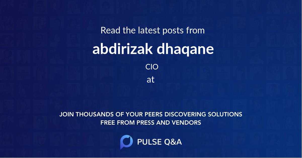 abdirizak dhaqane