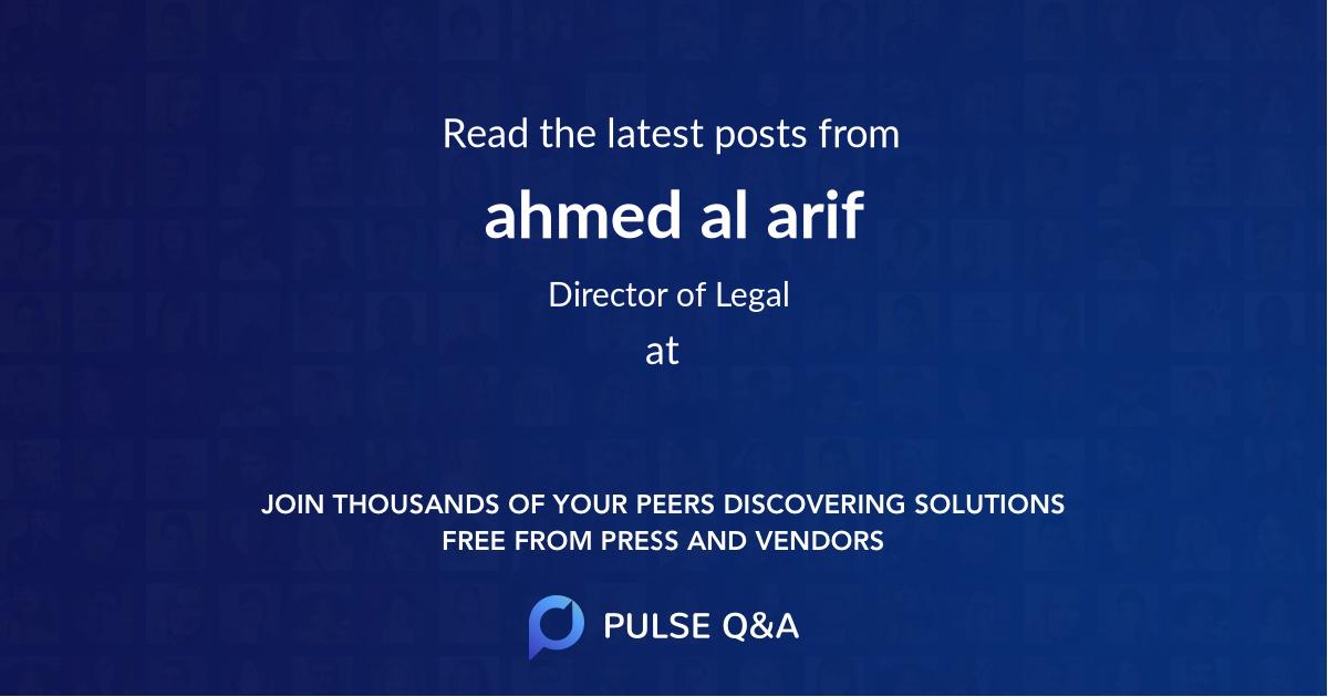 ahmed al arif