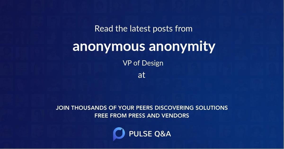 anonymous anonymity