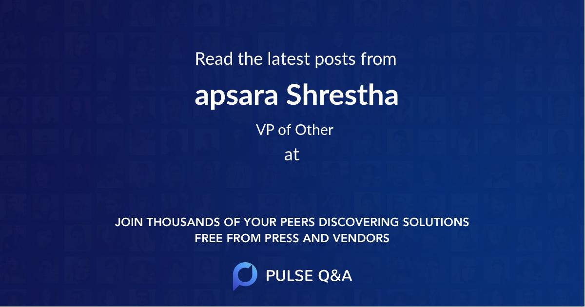 apsara Shrestha