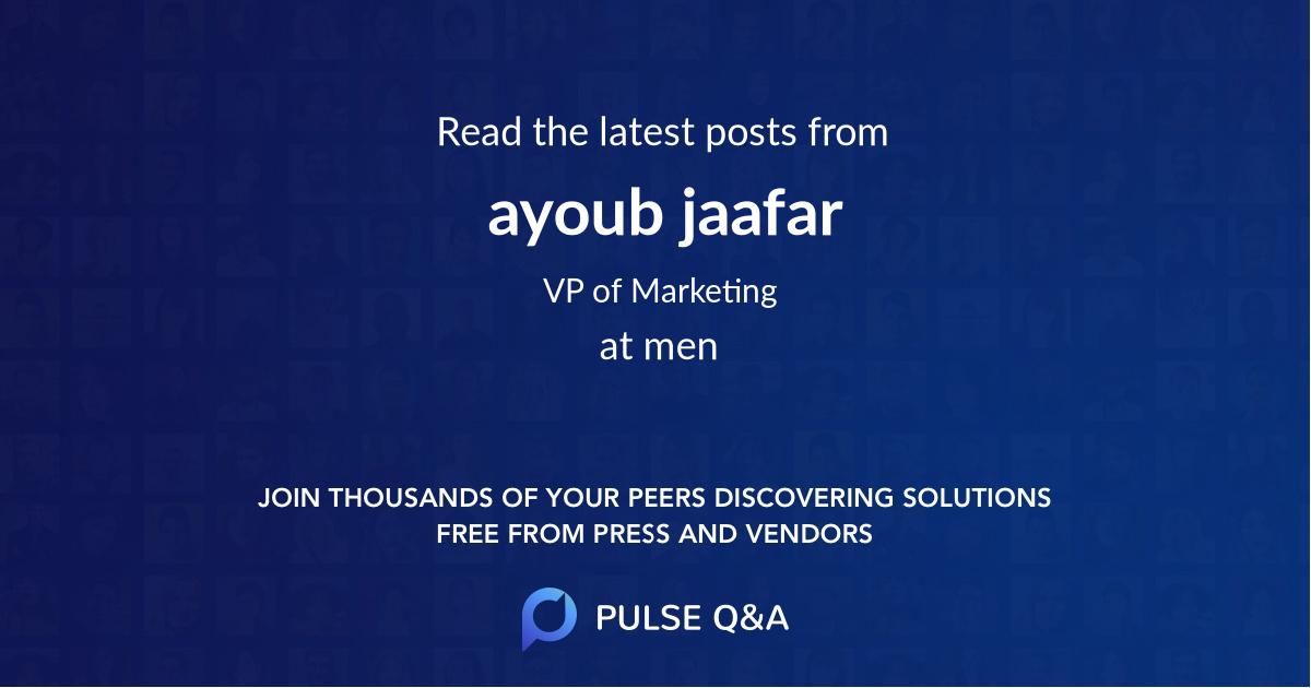 ayoub jaafar