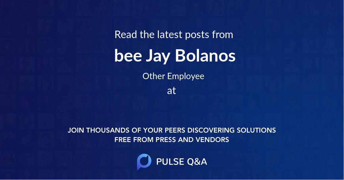 bee Jay Bolanos