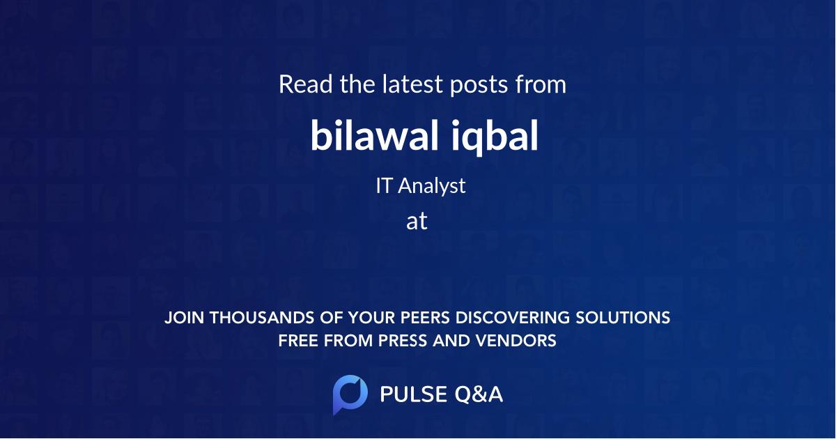 bilawal iqbal