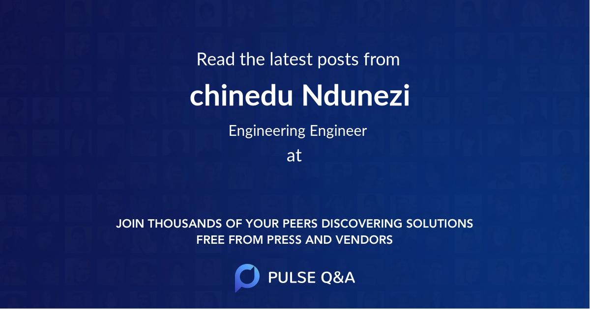 chinedu Ndunezi