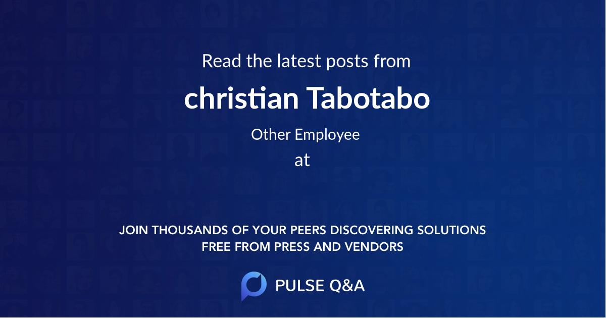 christian Tabotabo
