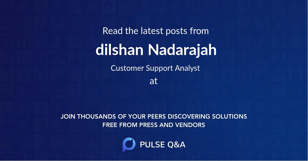 dilshan Nadarajah