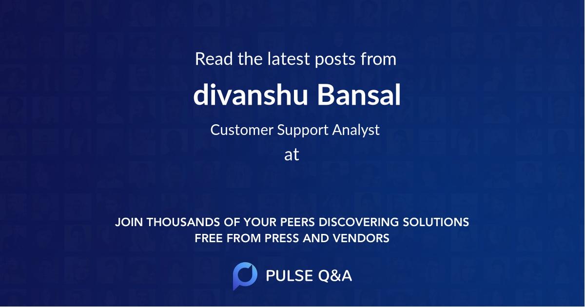 divanshu Bansal