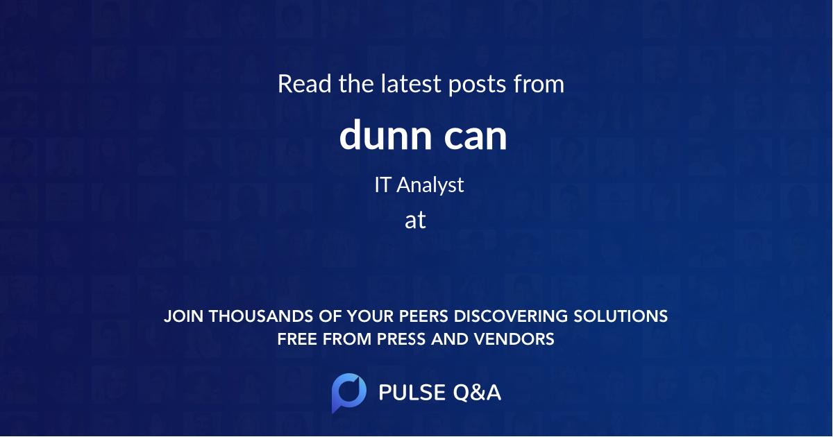 dunn can