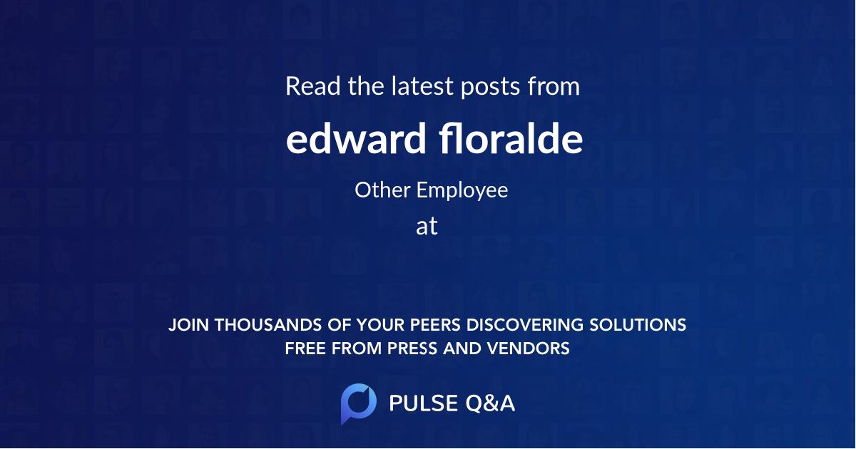 edward floralde