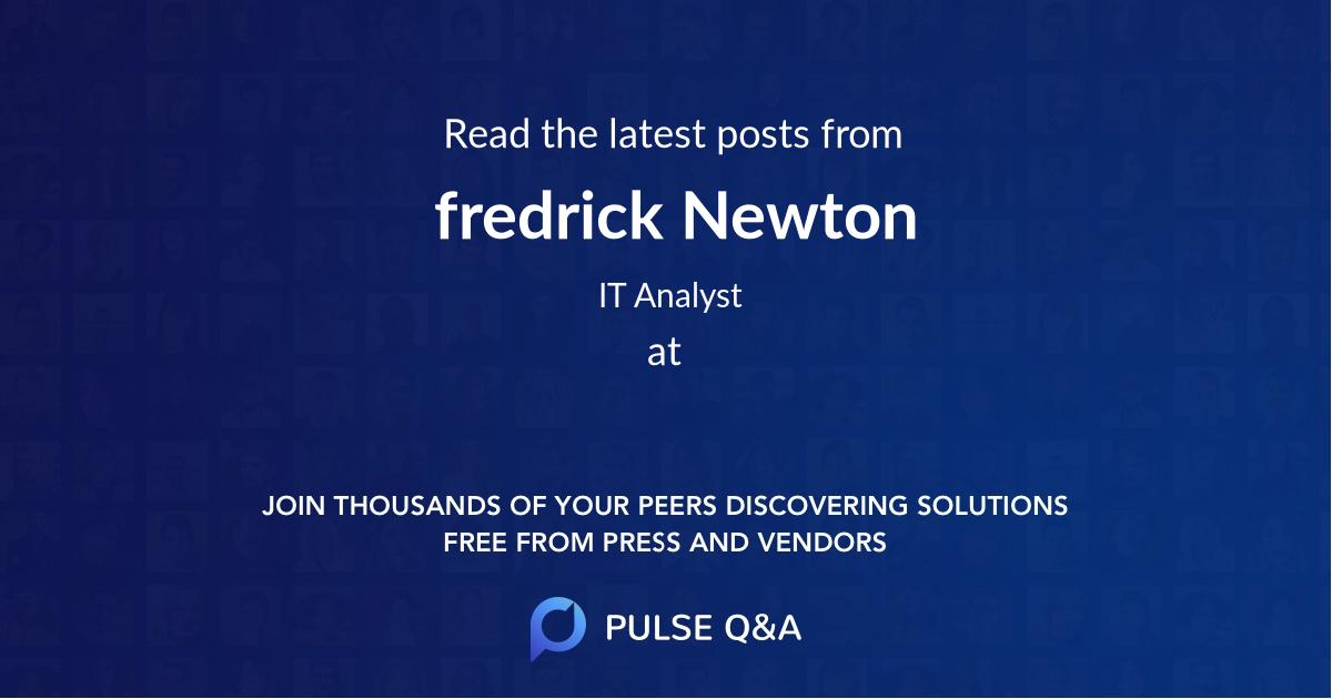 fredrick Newton