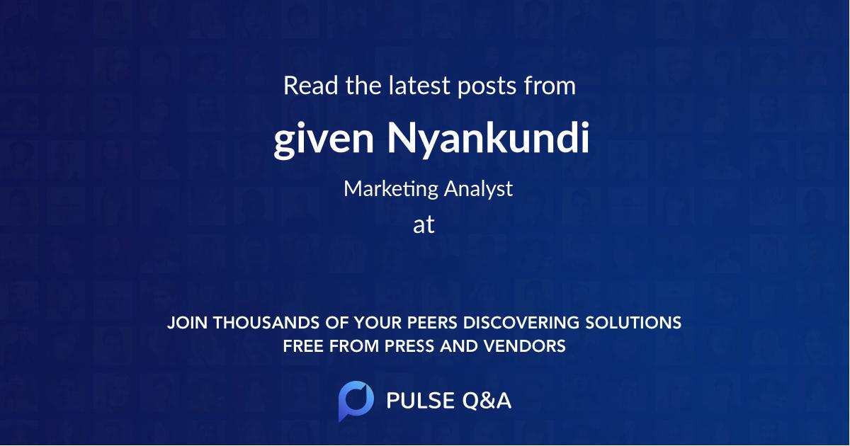 given Nyankundi