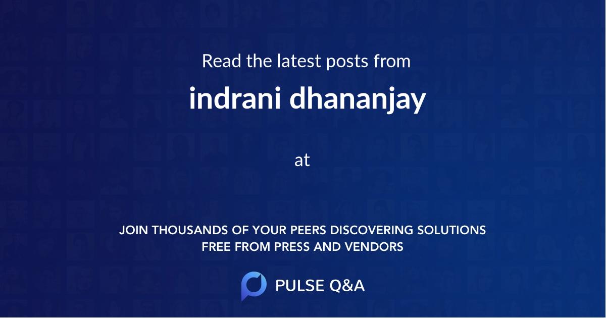 indrani dhananjay