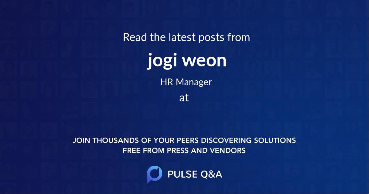 jogi weon