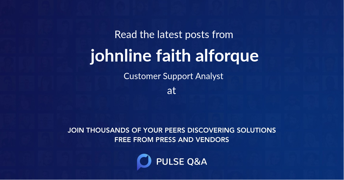 johnline faith alforque