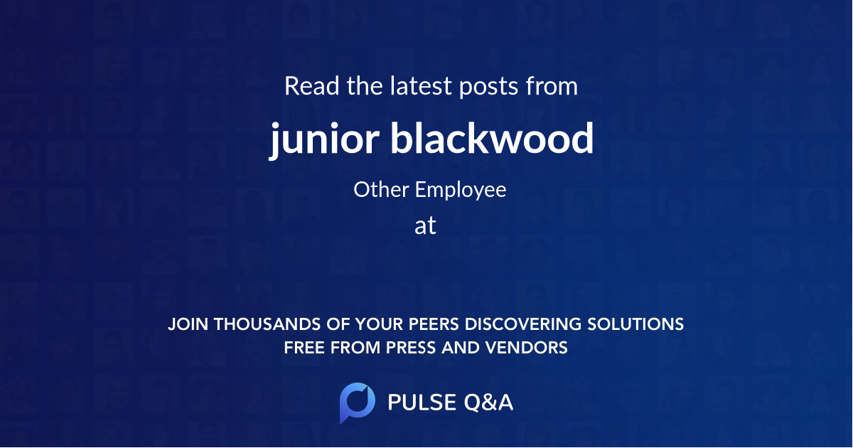 junior blackwood