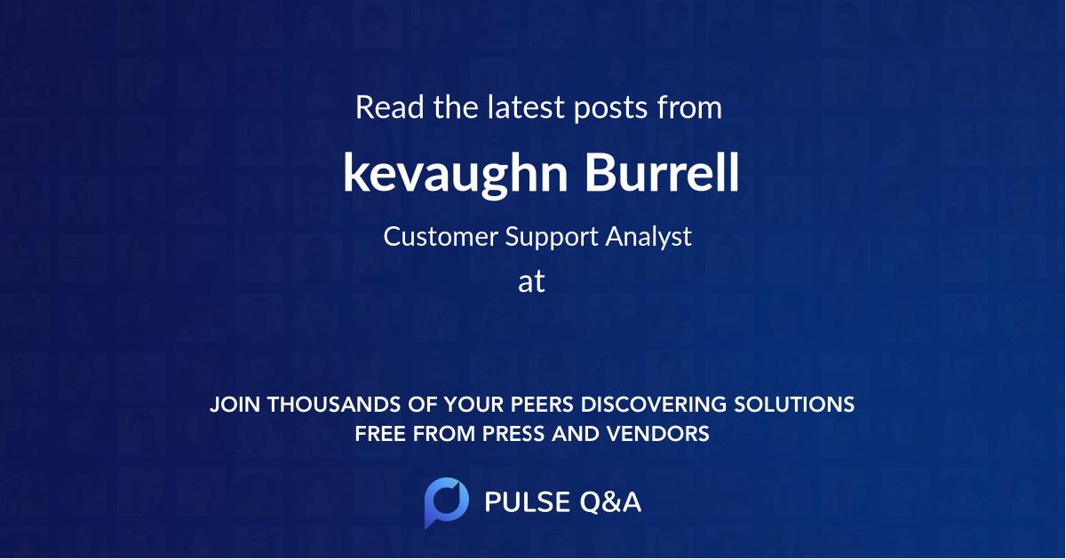 kevaughn Burrell