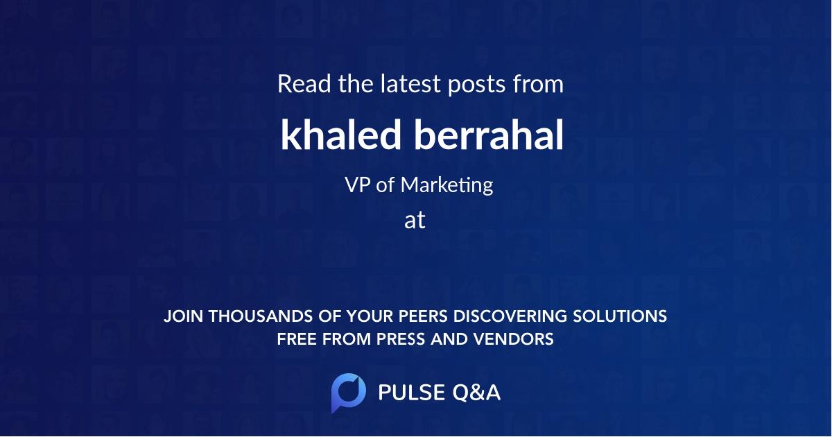 khaled berrahal