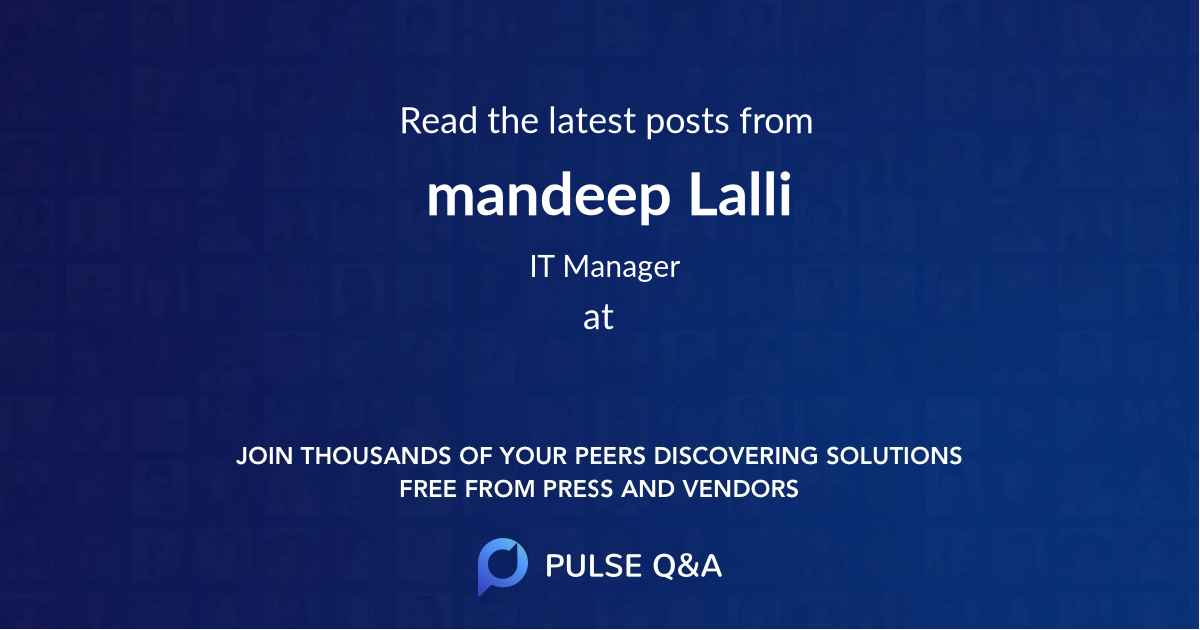 mandeep Lalli