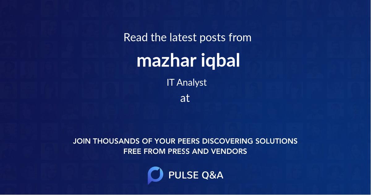 mazhar iqbal