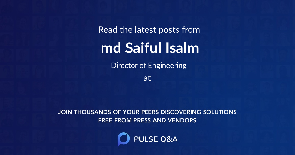 md Saiful Isalm