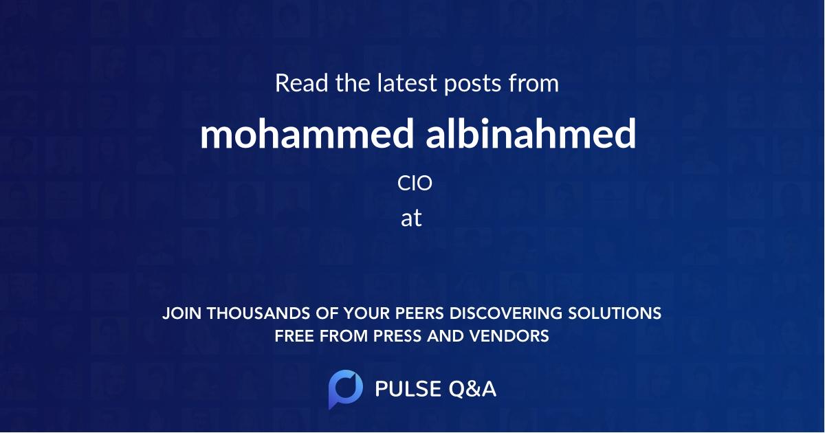mohammed albinahmed