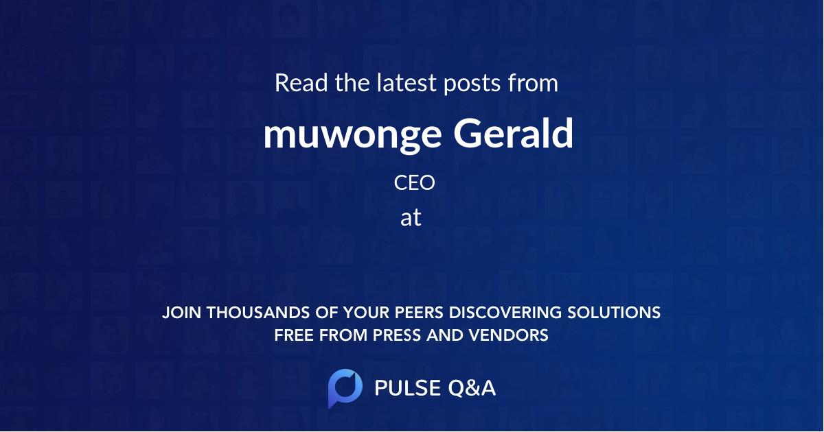 muwonge Gerald