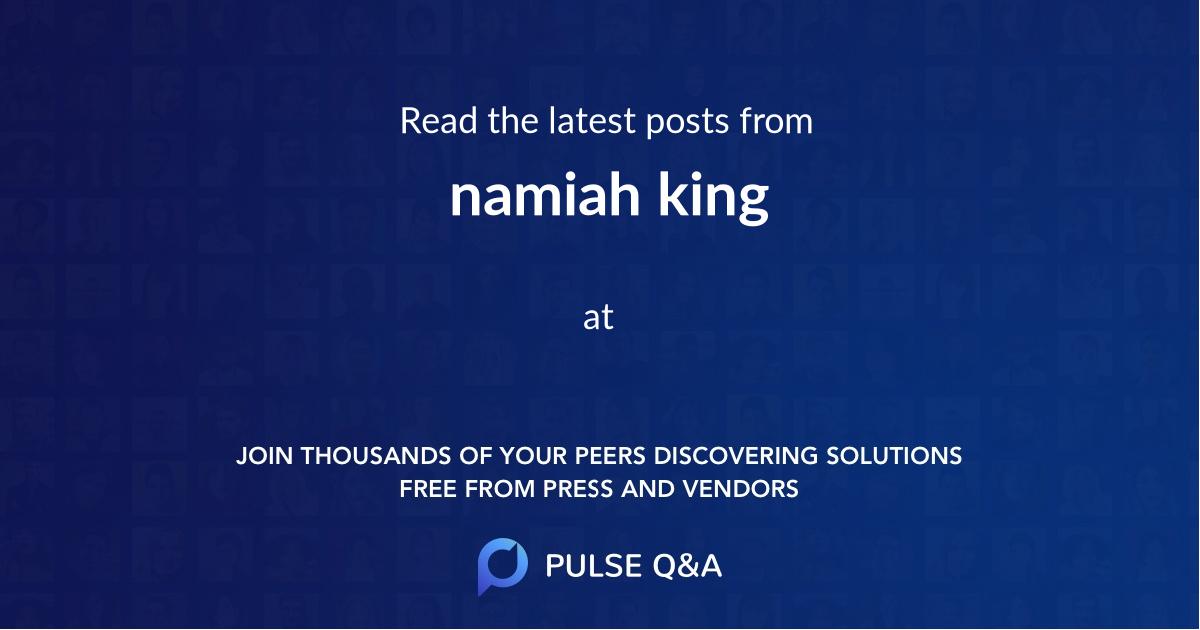 namiah king