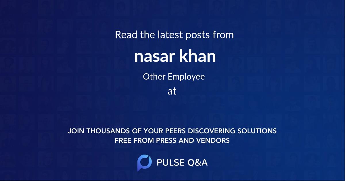 nasar khan