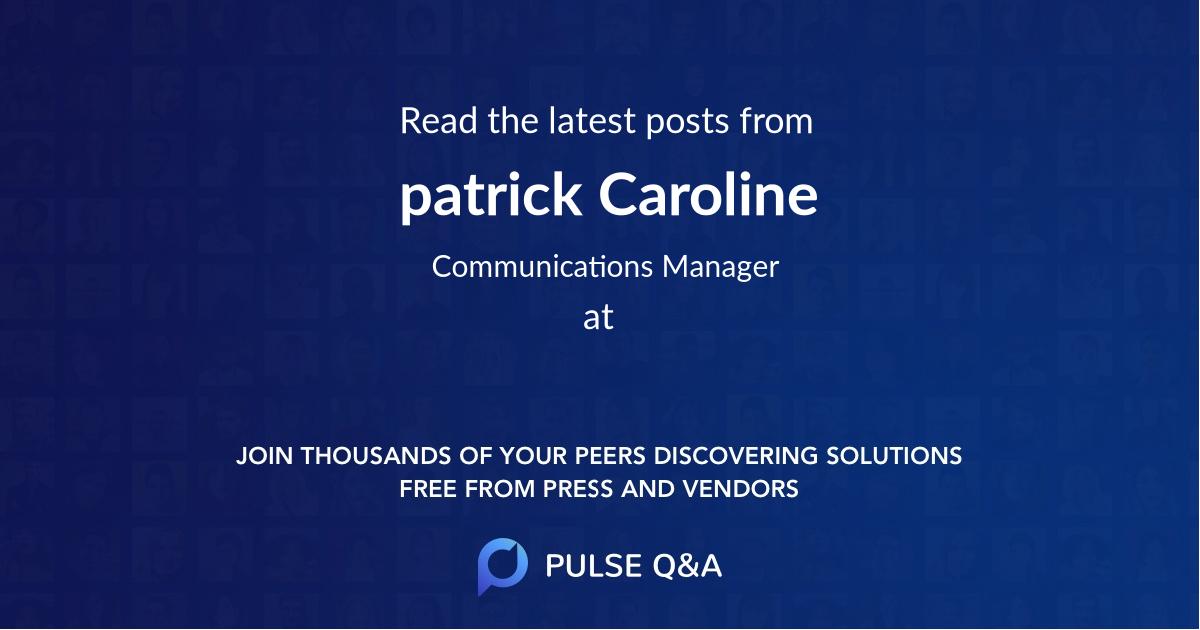 patrick Caroline