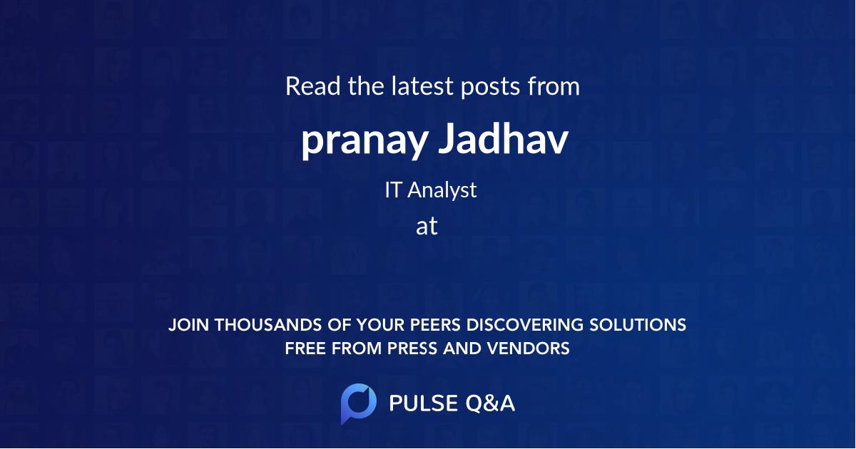 pranay Jadhav