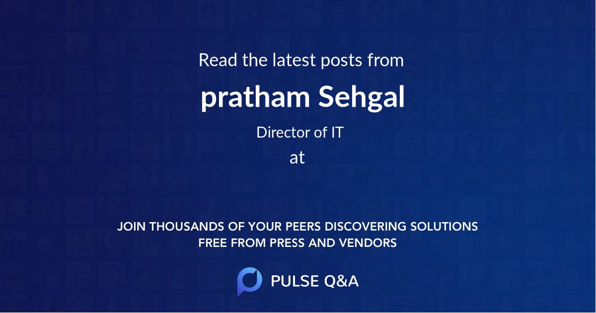 pratham Sehgal