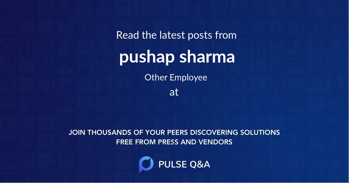 pushap sharma
