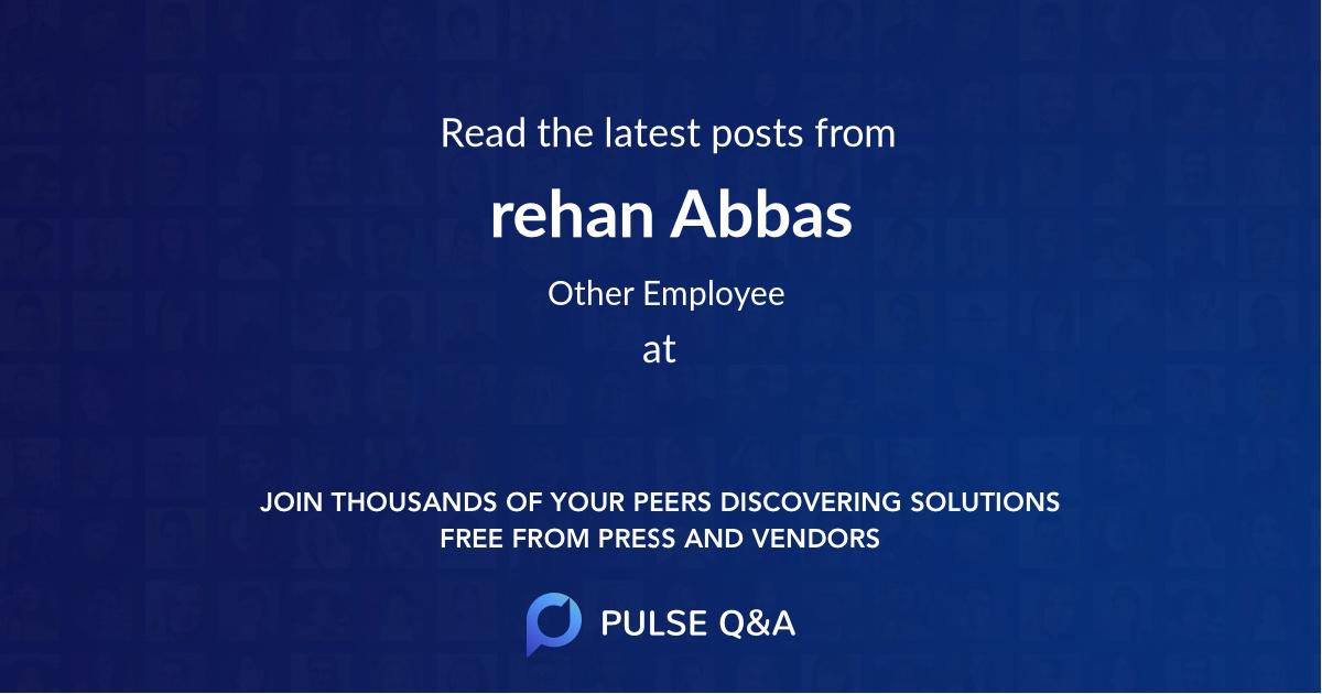 rehan Abbas