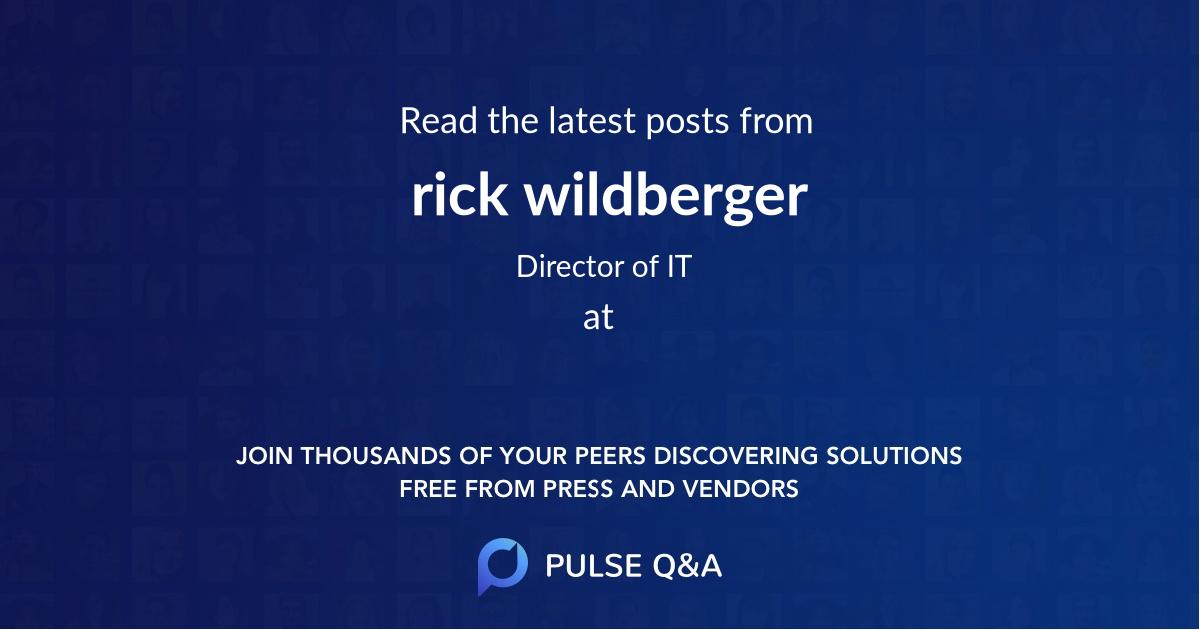 rick wildberger