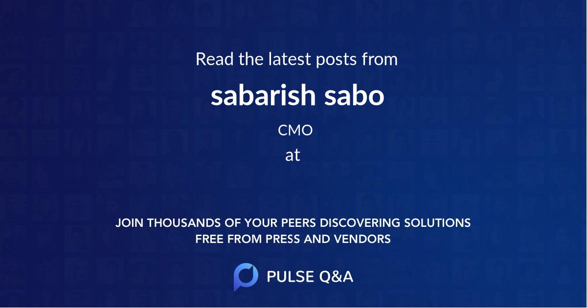 sabarish sabo