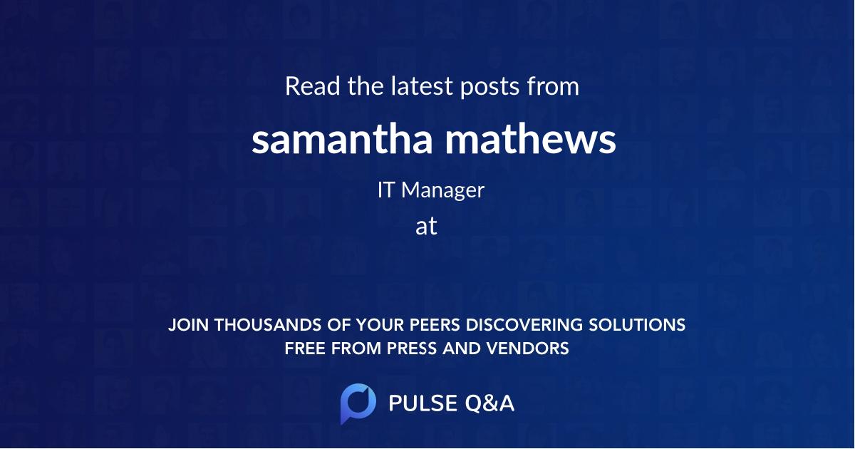 samantha mathews