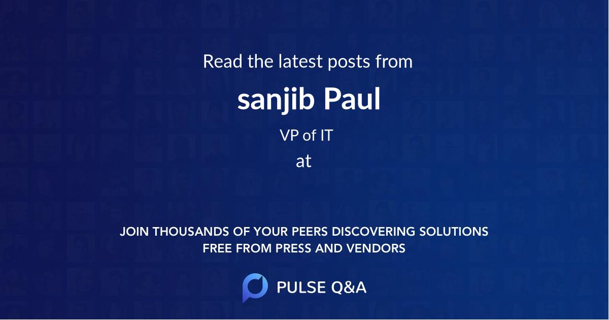 sanjib Paul