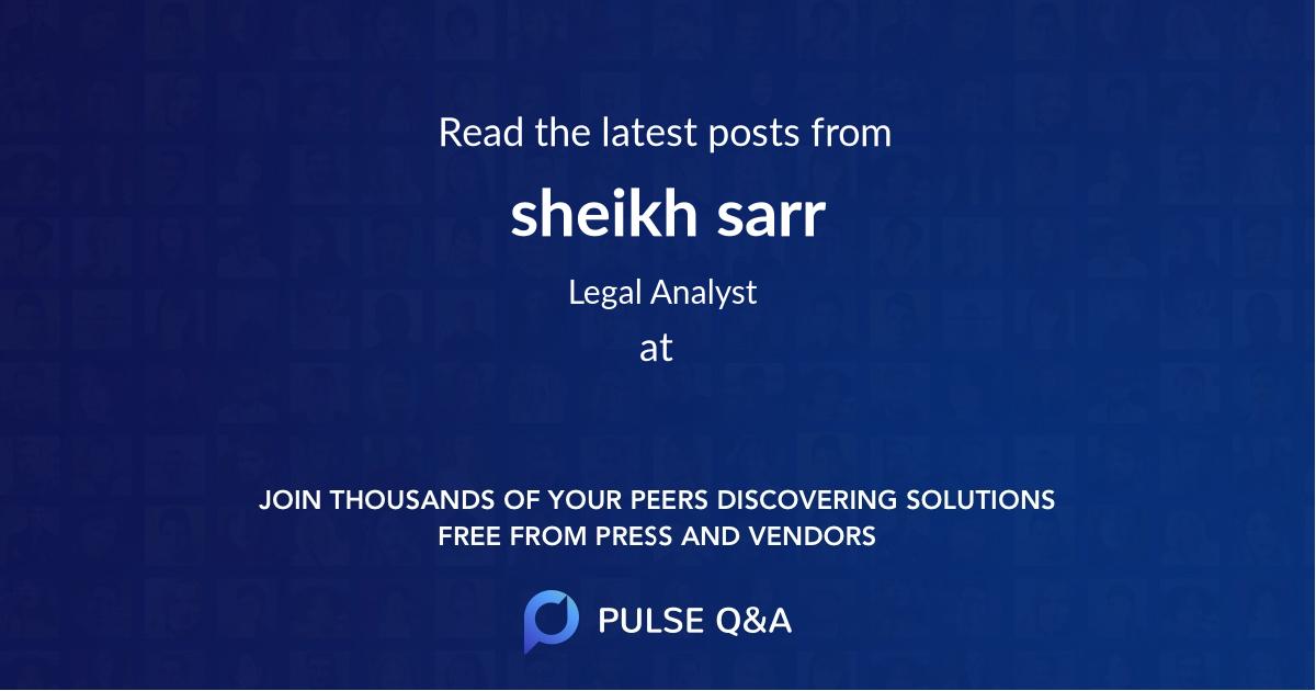 sheikh sarr