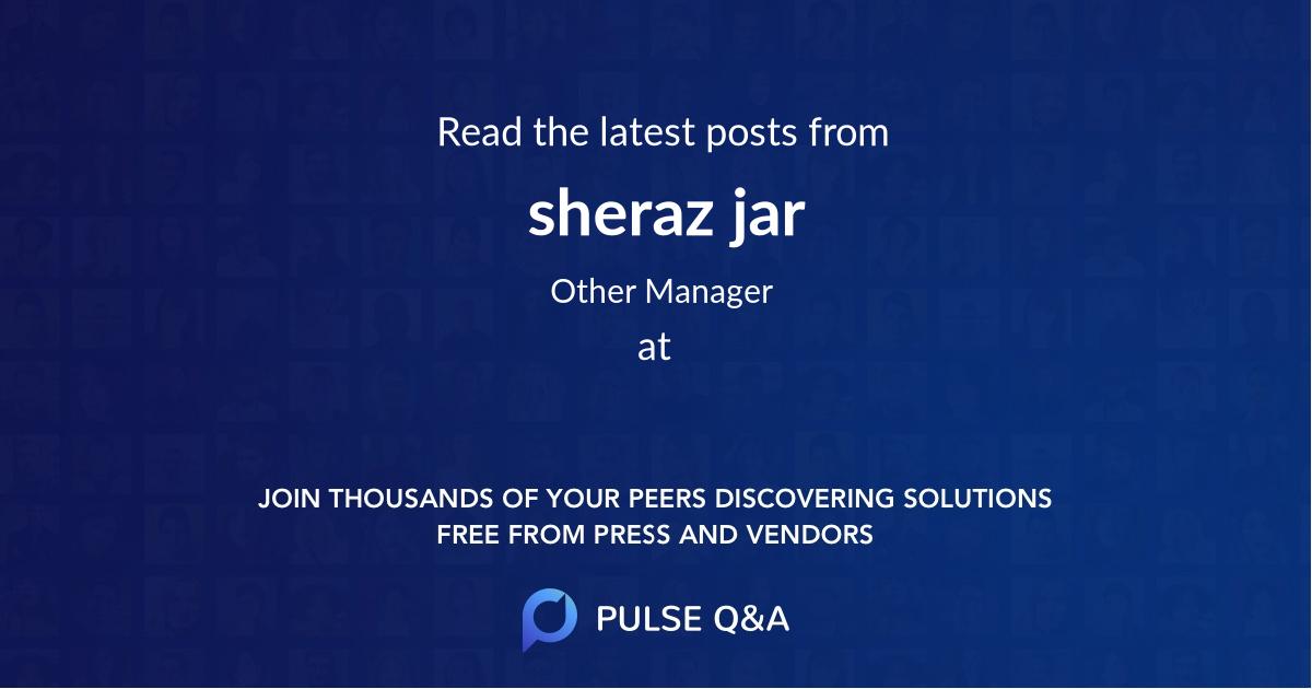 sheraz jar