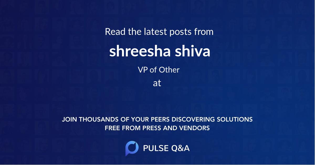 shreesha shiva
