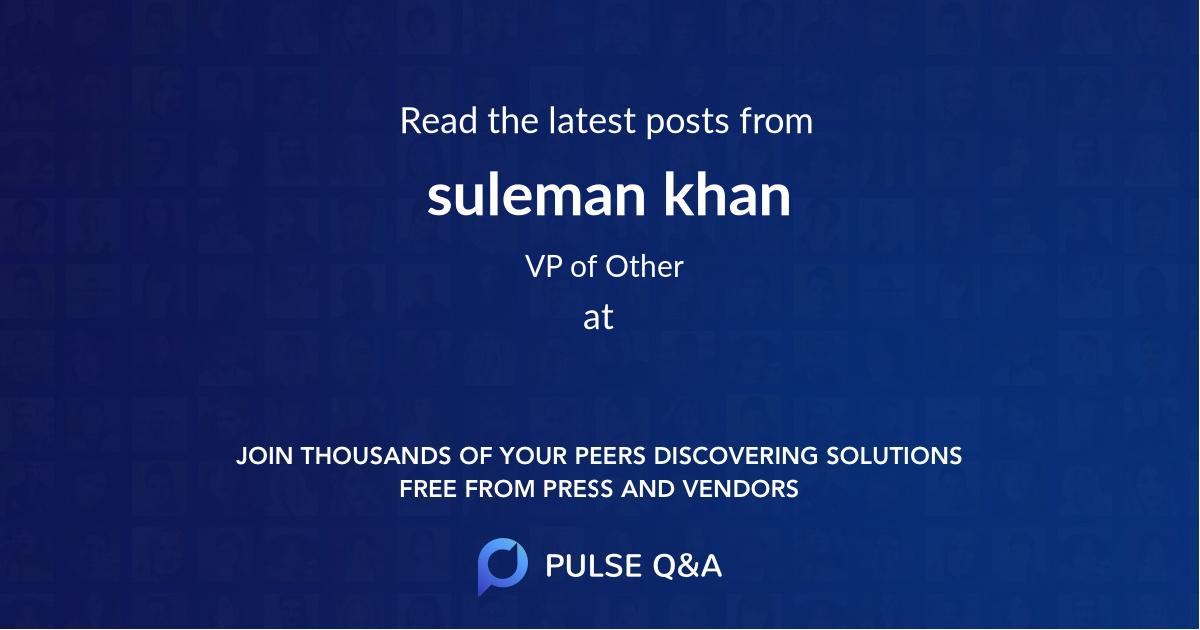 suleman khan