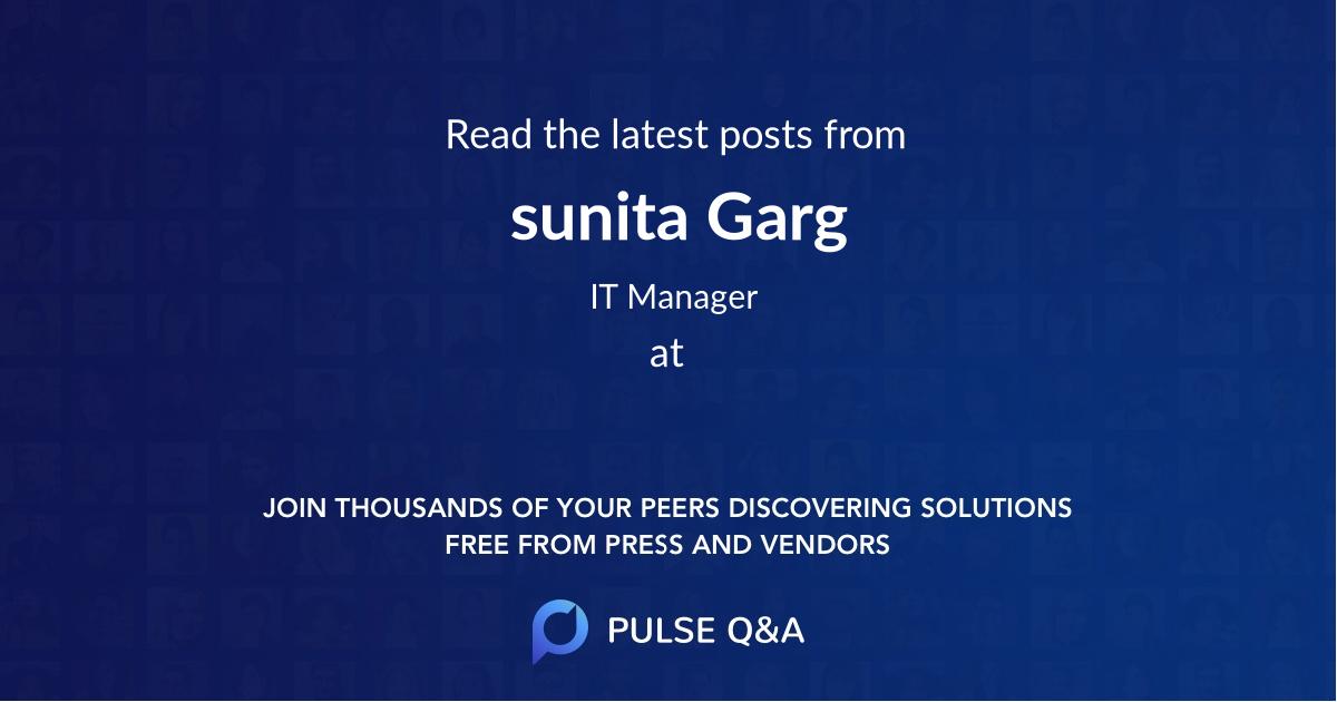 sunita Garg