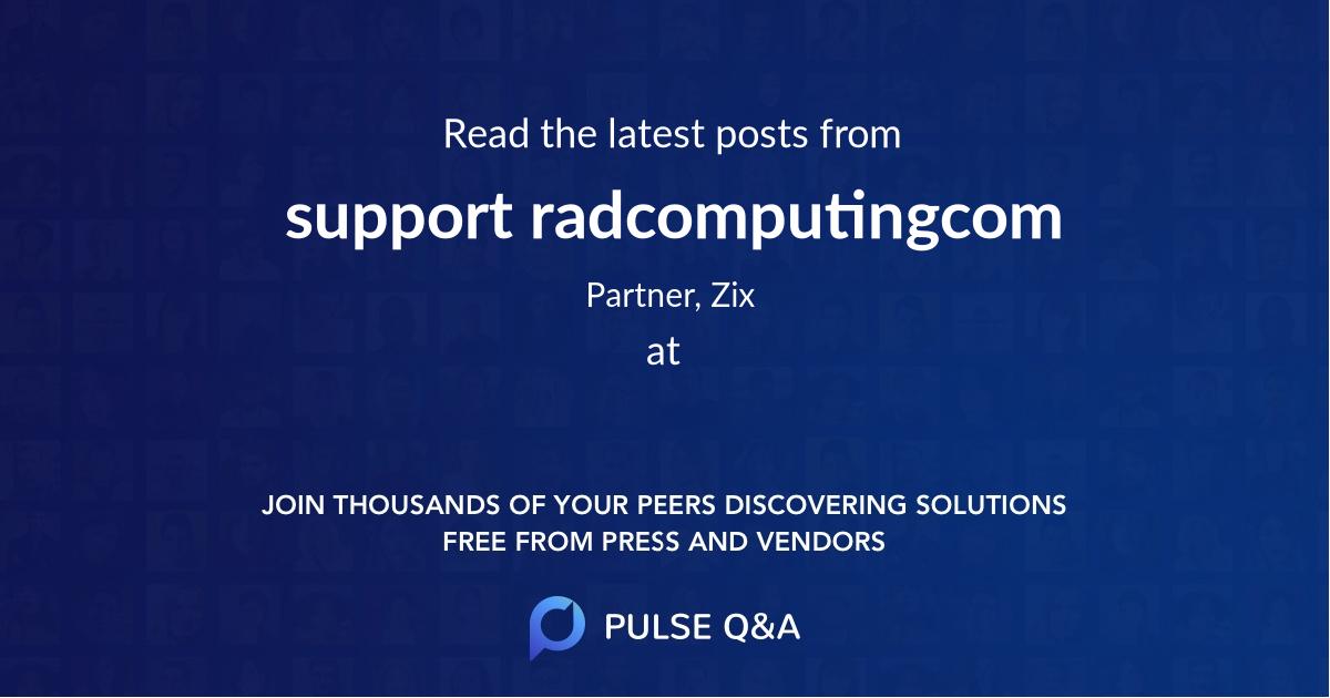 support radcomputing.com